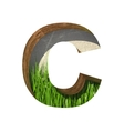 grass cutted figure c Paste to any background vector image