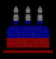 halftone russian birthday cake icon vector image