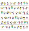 hand drawing cartoon happy kids vector image