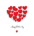handdrawn grunge hearts set valentine day vector image
