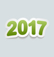 happy new year 2017 background 2017 icon curved vector image