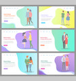 how to build happy relationship man and woman set vector image vector image