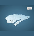 isometric 3d senegal map concept vector image vector image