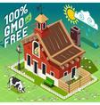 Isometric GMO Free Farming vector image vector image