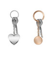 key bunch with keychain on metal ring vector image