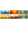 landscape background beautiful nature outdoor vector image vector image