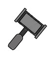 law hammer icon vector image vector image