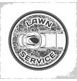 lawn service logo monochrome vector image vector image