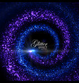 magic glowing trails of particles vector image vector image