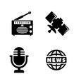 media news simple related icons vector image vector image