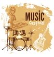 music vintage background splash blob retro design vector image vector image