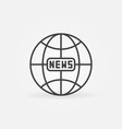 news earth globe outline icon global news vector image