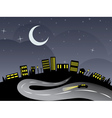 Night City and Road vector image