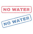 no water textile stamps vector image vector image