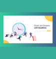 office deadline business concept landing page vector image
