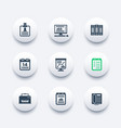 office icons set documents reports folders vector image vector image