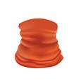 orange bandana face mask scarf