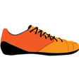 Orange sport shoe vector image