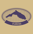 Oval stamp with Florida state silhouette - FL vector image vector image