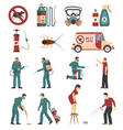 Pest Control Service Flat Icons Collection vector image vector image