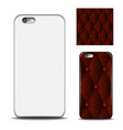phone cover reverse side of smartphone leather vector image