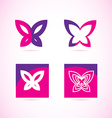Pink purple butterfly logo vector image