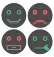 Pixel smiles Icons vector image