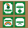 Printable set of saint patrick party elements vector image vector image
