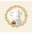 rabbit with a mug of tea vector image vector image