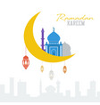 ramadan kareem concept muslim mosque with vector image vector image