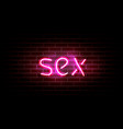 realistic neon pink light sign decoration vector image