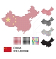 set china map red color dotted design vector image