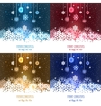 Set of abstract Christmas vector image vector image
