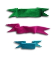 Set of banners ribbons vector image vector image