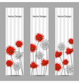 set vertical banners with flowers vector image vector image