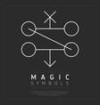 simple design of magic symbols vector image