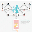 Social Networking People Conceptual Design vector image vector image