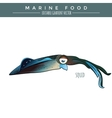 Squid Marine Food Fish vector image vector image