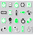 time theme modern simple stickers set eps10 vector image vector image