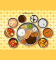 traditional cuisine and food meal thali of vector image vector image
