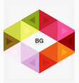 triangle modern mosaic geometric template vector image vector image