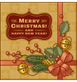 Vintage Christmas Gift vector image vector image