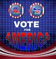 Vote for America Elephant versus Donkey Banner vector image
