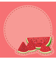 Watermelon Character Notes Pink vector image vector image