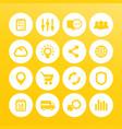 web icons set internet e-commerce shopping vector image vector image