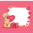 valentine teddy and sign vector image
