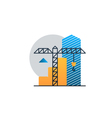 Real estate investment under construction income vector image