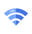wireless network symbol wifi sign vector image