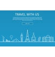 Infographics elements Travel and Famous Landmarks vector image