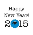 2015 new year card with sheep vector image